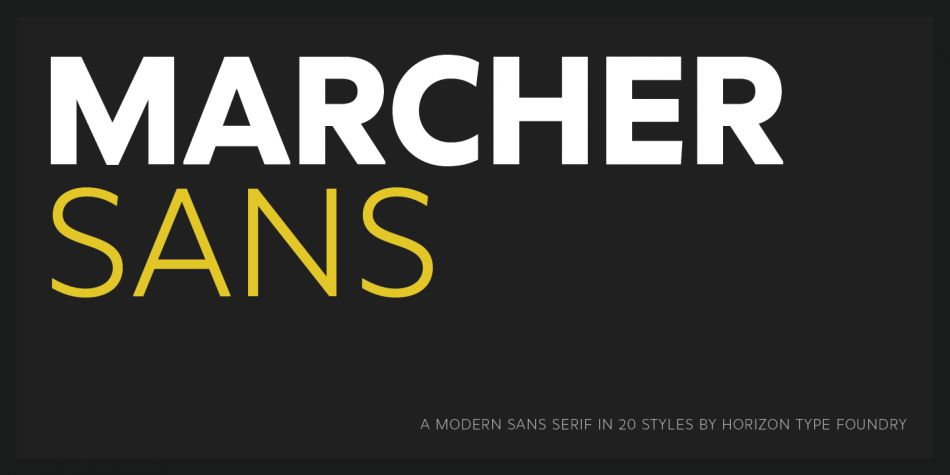 Marcher Font Family