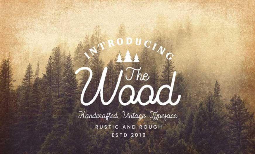 The-Wood-Vintage-Monoline-Script-font