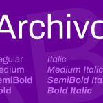 Archivo Font Family