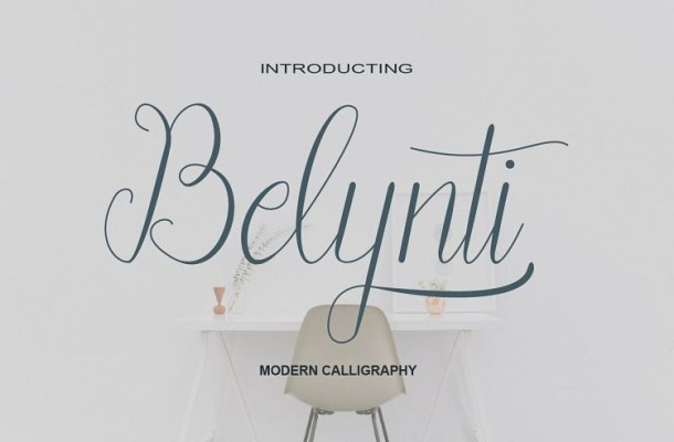 Belynti Calligraphy Font