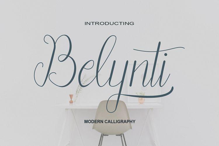 belynti-calligraphy-font