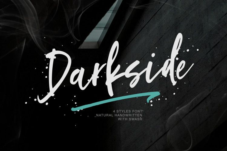 darkside-brush-font-1