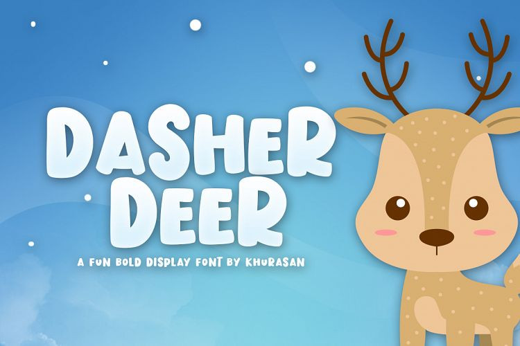 dasher-deer-font-1
