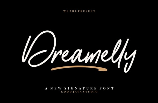 Dreamelly Signature Font
