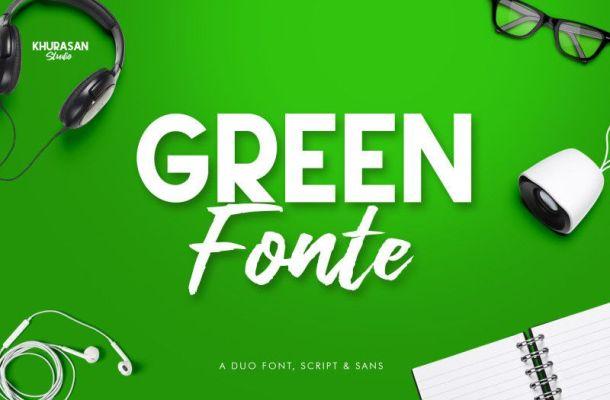 Green Fonte Font
