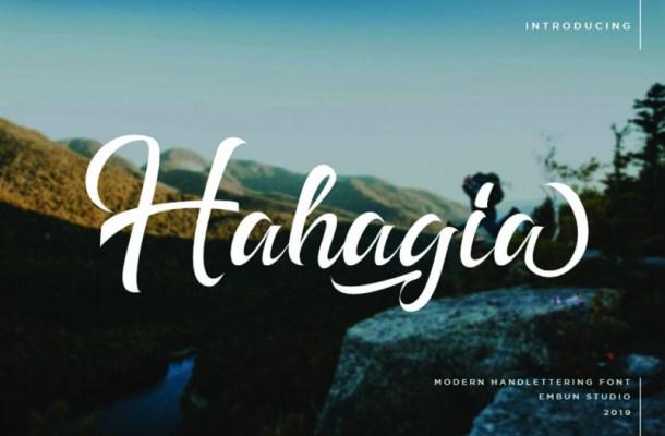 Hahagia Font