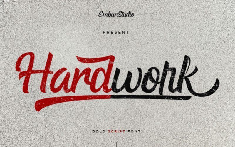 hardwork-bold-script-font
