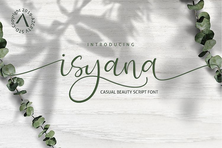 isyana-script-font