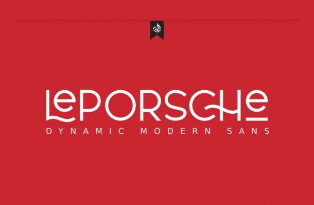 Le Porsche Sans Font