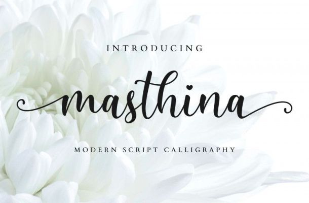 Masthina Modern Script Font