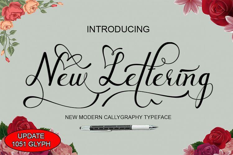 new-lettering-font