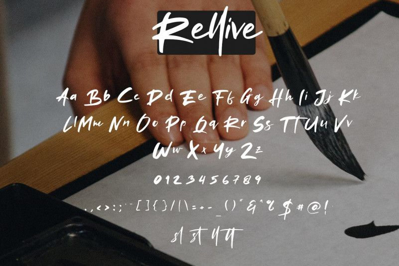 rellive-brush-font-3