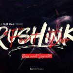 Rushink Brush Font