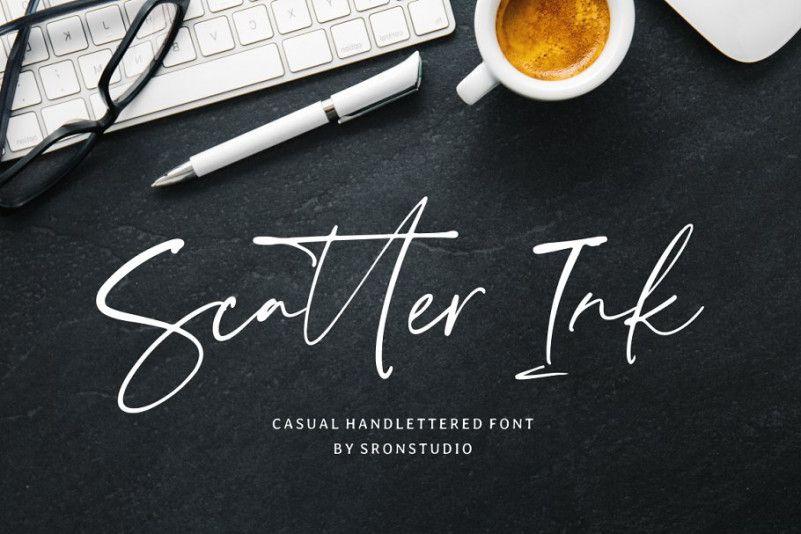 scatter-ink-handlettered-font