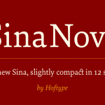 Sina Nova Font Family (Free 1 Type)