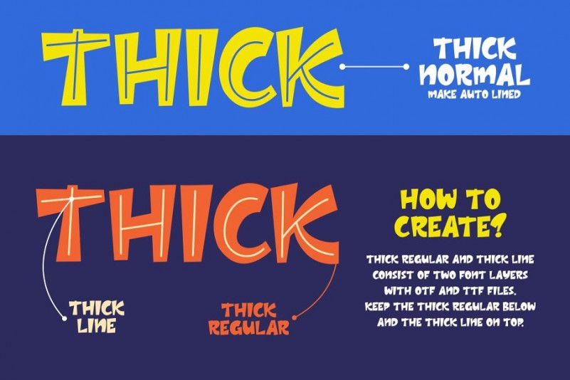 thick-layered-font-3
