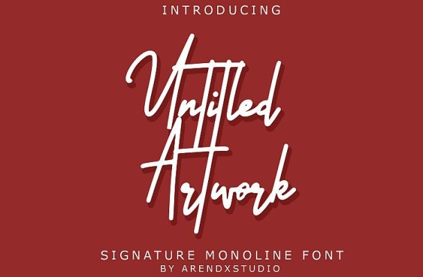 Untitled Artwork Signature Font
