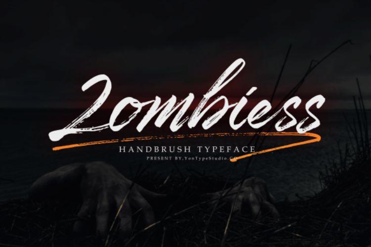 zombiess-brush-font