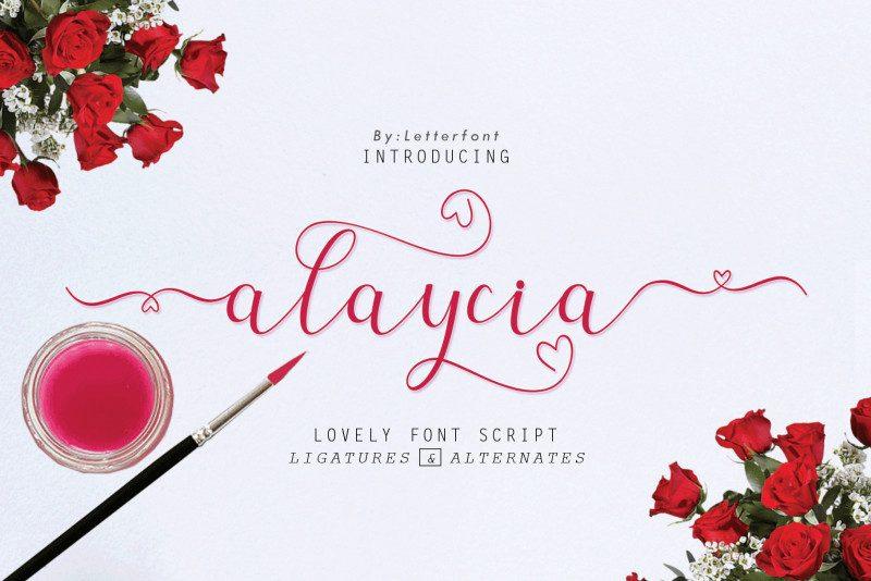 Alaycia Calligraphy Font