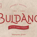 Buldano Stylish Sans Font