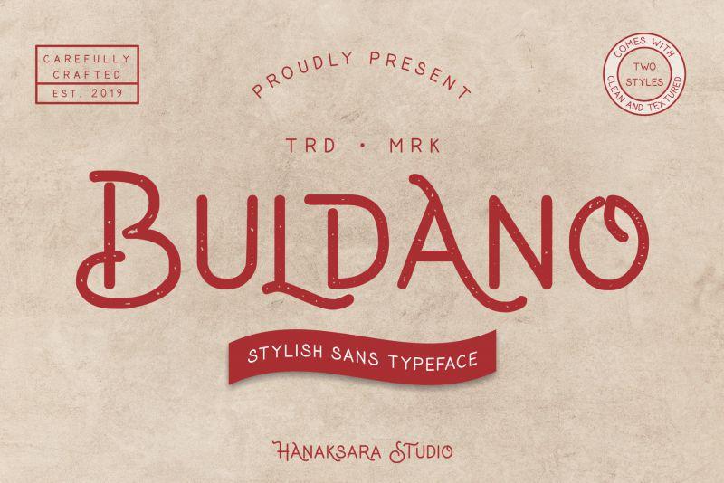 Buldano Stylish Sans Font-1
