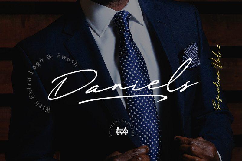 Daniels Signature Font-1