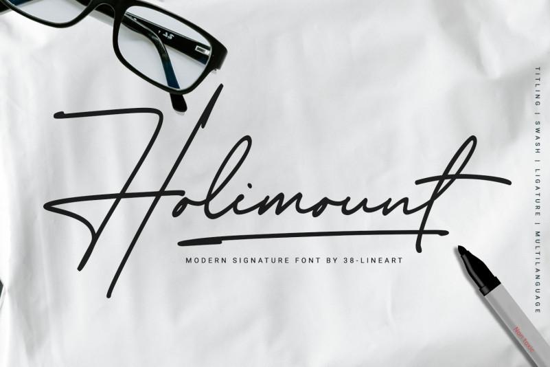 Holimount Handwritten Font