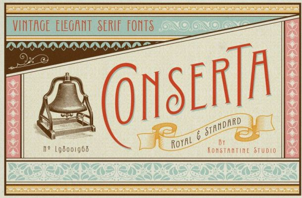 Conserta Vintage Display Font