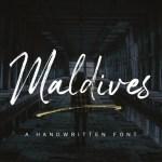 Maldives Brush Font