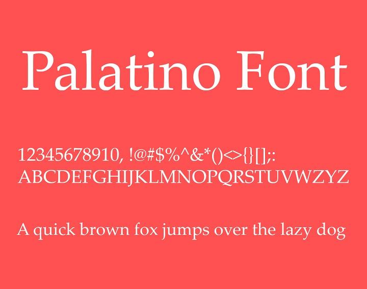 palatino-linotype-font