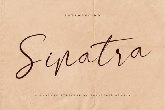 Sinatra Signature Font