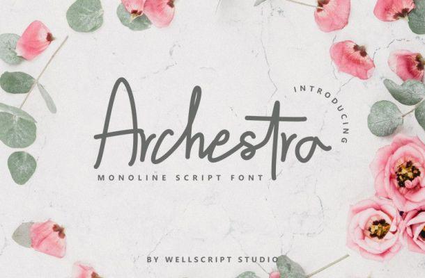 Archestra Handwritten Script Font