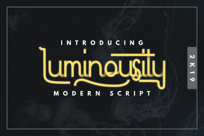 Luminousity Modern Script Font