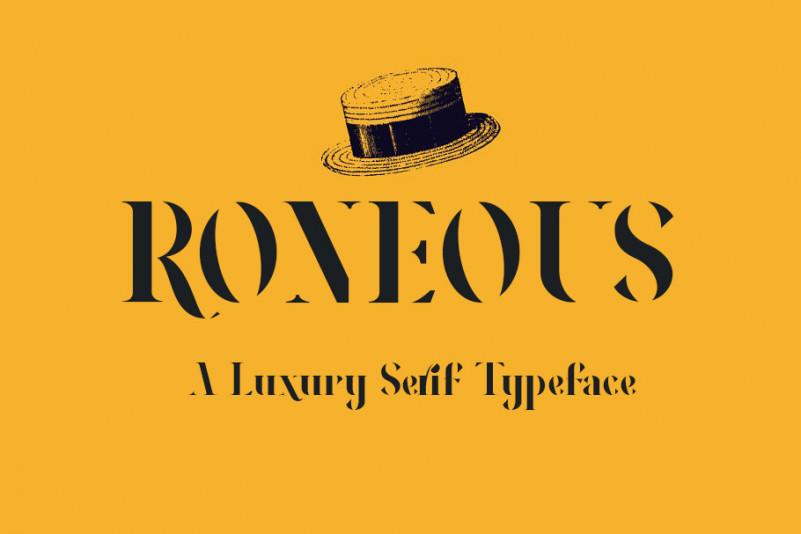 RONEOUS-Serif-Font