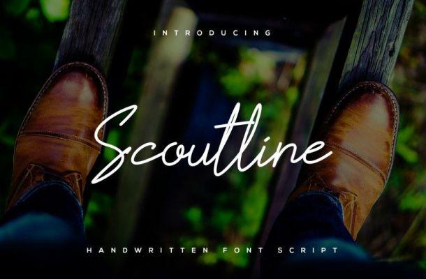 Scoutline Script Font