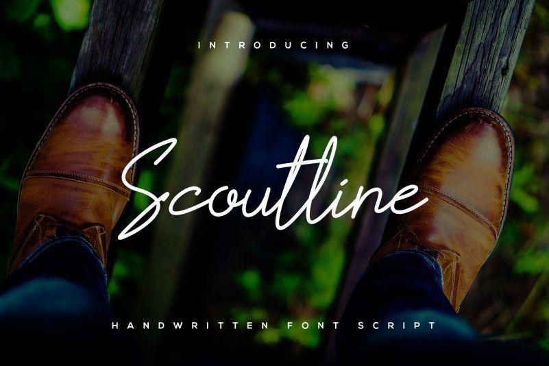 Scoutline Script Font-1