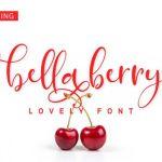 BellaBerry Script Font