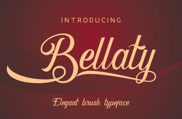 Bellaty Brush Scripts Font