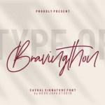 Bravingthon Signature Font