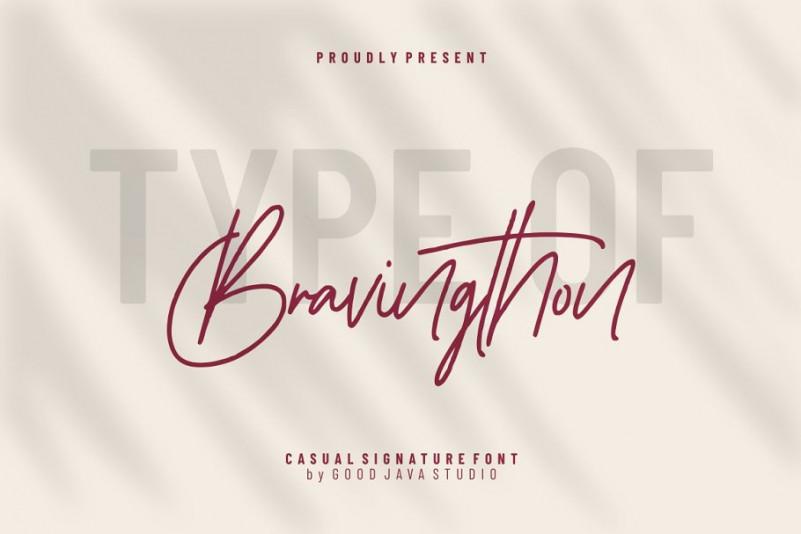 bravingthon-signature-font