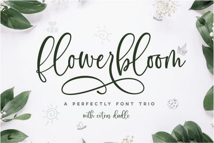 flowerbloom-font-trio
