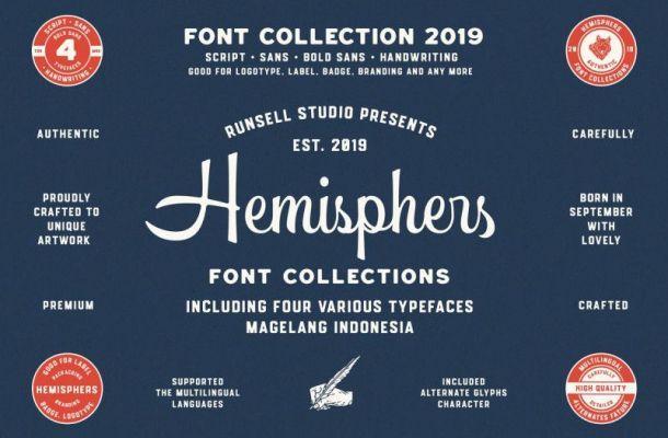 Hemisphers Script Font