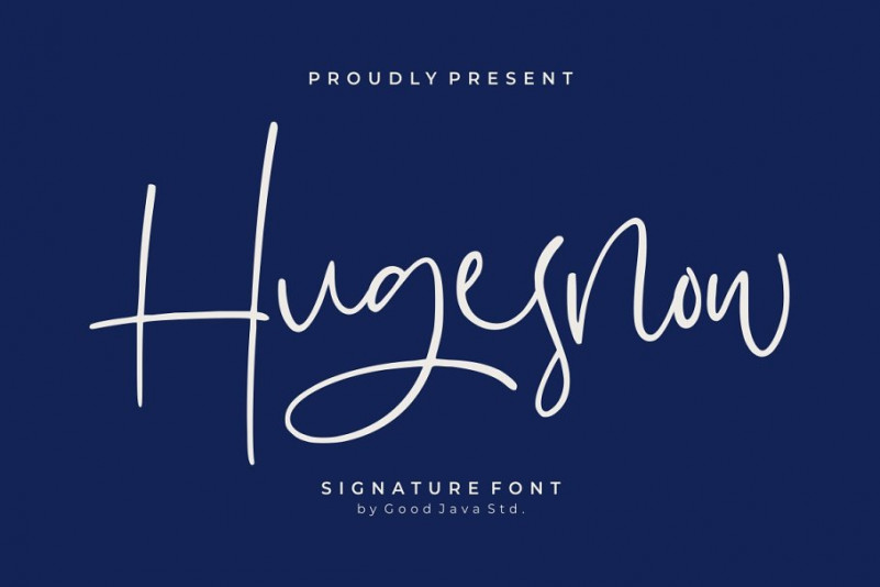 hugesnow-signature-font
