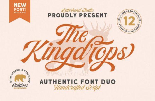 Kingdrops Calligraphy Font