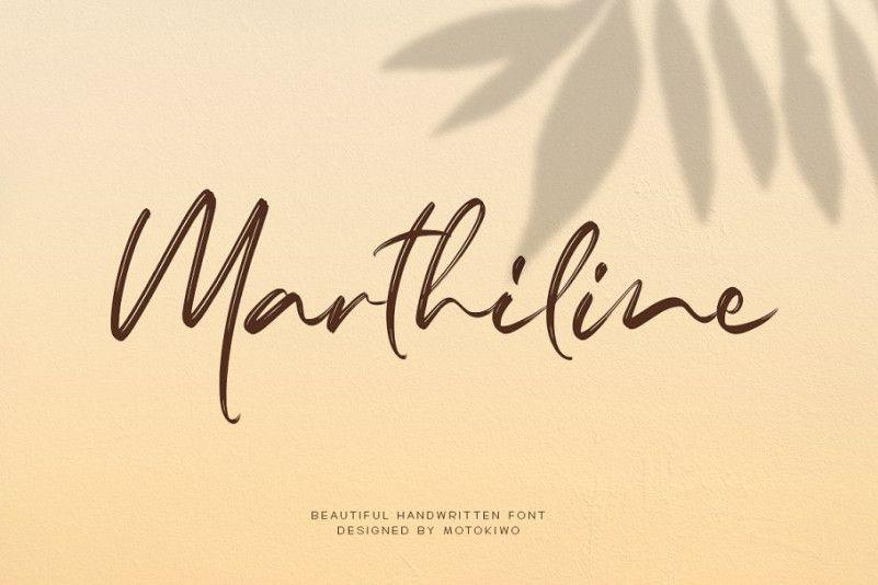 marthiline-handbrush-font-1