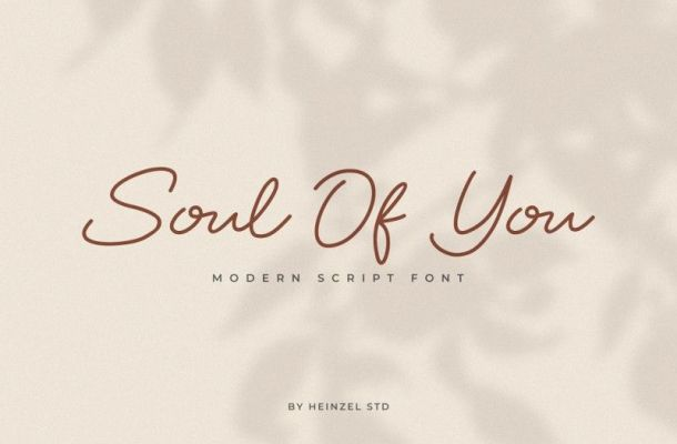 Soul Of You Font