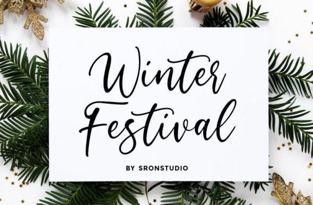 Winter Festival Font