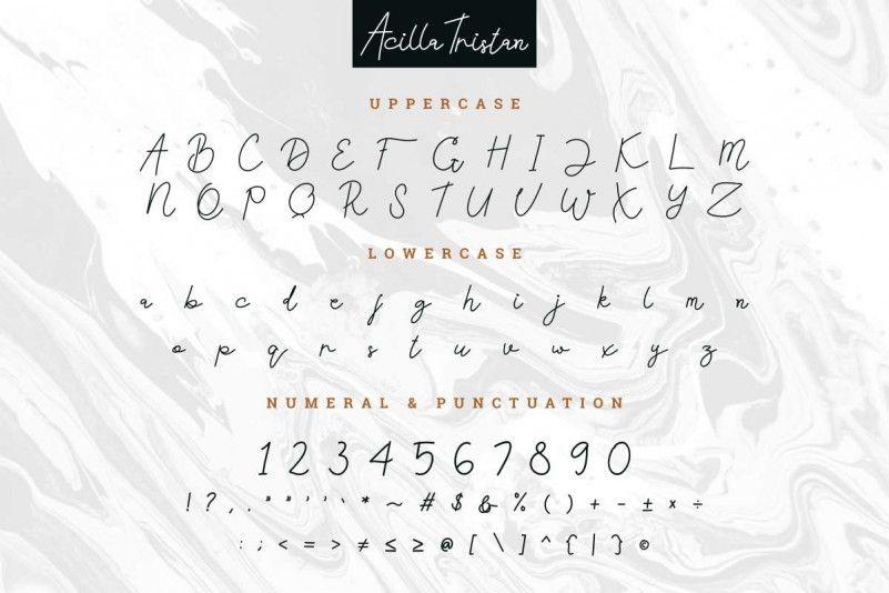 Acilla Tristan Handwriting Font-3