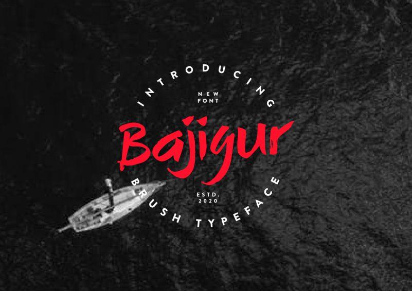 Bajigur Brush Font