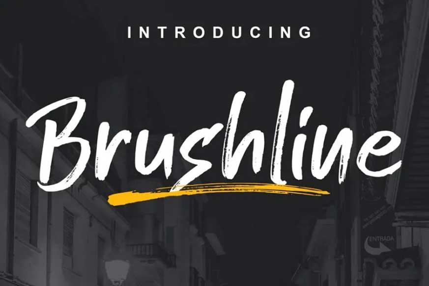 Brushline-Font